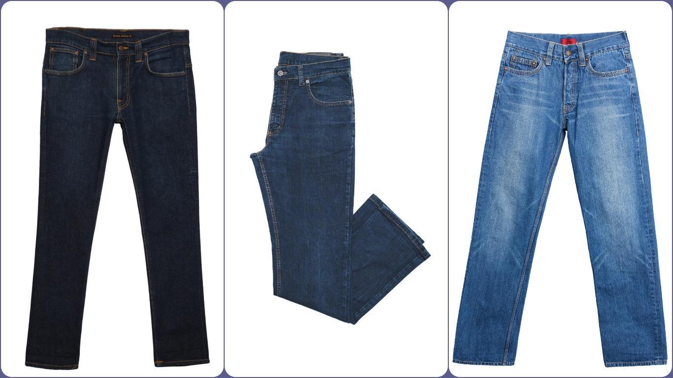 Основные цвета индиго для классических джинсов
